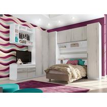 Dormitório Jogo De Quarto Solteiro Modulado Exclusive