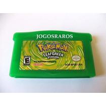 Gba: Pokemon Leaf Green Original Americano!! Bateria Nova!!