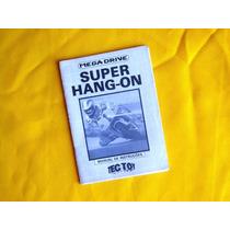 Manual Super Hang On - Mega Drive Tec Toy - Original - 1989