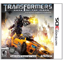 Jogo Novo Transformers Dark Of The Moon Para Nintendo 3ds