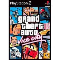 Dvd Ps2 Grand Theft Auto Vice City Gta Playstation 2