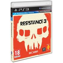 Resistance 3 - Compatível Com O Psmove {3d} Ps3 Seminovo