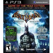 Ps3 Batman Arkham Asylum 3d Novo - Original - Lacrado