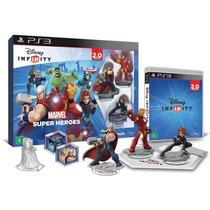 Jogo Ps3 Disney Infinity 2.0 Kit Inicial Marvel Webfones