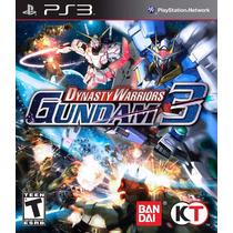 Jogo Lacrado Dynasty Warriors Gundam 3 Para Playstation 3