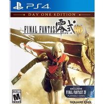 Final Fantasy Type-0 Hd Play 4 Ps4 Sedex Barato Disponível