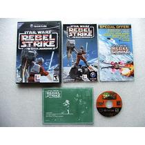 Game Cube: Star Wars Rebel Strike Completo + Extras!! Raro!!