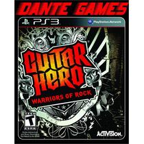 Guitar Hero Warriors Of Rock Ps3 - Original Seminovo