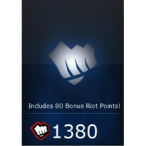 League Of Legends - Lol - Cartão 1380 Riot Points -imediato!