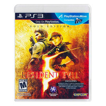 Resident Evil 5 Gold Edition - Compatível C/ Move - Ps3