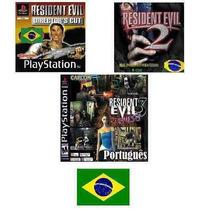 Patchs: Trilogia Resident Evil 1 2 3 Portugues Br Ps1 & Ps2