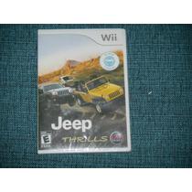 Jeep Thrills Para Wii, Americano, Lacrado Pronta Imediata