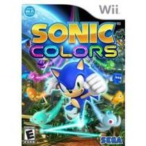 Jogo Da Seda Sonic Colors Para Nintendo Wii Pronta Entrega