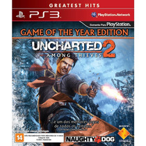 Uncharted 2 Among Thieves Goty Edition Ps3 Frete R$10 Novo