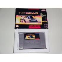 Top Gear Snes Com Caixa Réplica Em Tamanho Original!!!!