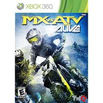 Jogo De Corrida Lacrado Mx Vs Atv Alive Para Xbox 360 Ntsc
