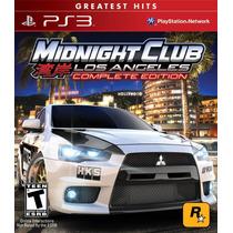 Midnigth Club Los Angeles Complete Edition Ps3 Artgames