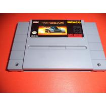 Top Gear Original Super Nintendo Labels Originais