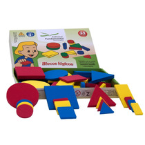Brinquedo Pedagógico Blocos Lógicos 48 Peças Em Eva