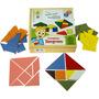Conjunto Tangram 70 Peças - Brinquedo Pedagógico Matemática