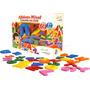 Alfabeto Móvel Colorido 72 Peças Em Eva Brinquedo Pedagógico