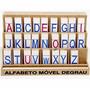 Alfabeto Móvel Degrau 5 Jogos De Alfabeto Mdf Carlu