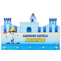 Cabideiro Infantil Castelo Menino Mdf E Madeira 1560 Carlu