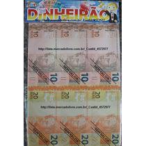 Dinheirinho - Dinheirão C/35 Cédulas (13x6cm) + Nf