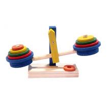 Balança Colorida Madeira Brinquedo Pedagógico