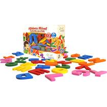 Alfabeto Móvel Colorido 72 Peças Em Eva - Brinquedo Pedagógi