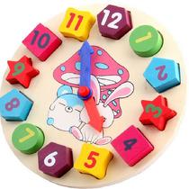 Brinquedo Educacional Blocos Madeira Geometria Promoção