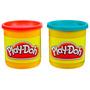 Massinha Play-doh 2 Potes - Vermelho E Azul - Hasbro 23655