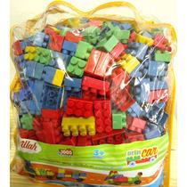 Blocos Brincar Mochila 1000 Peças Nina Brinquedos Educativos