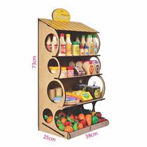 Gondola De Madeira Supermercado Educativo Brinquedo