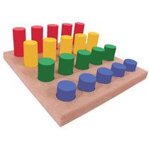 Pinos Coloridos - Brinquedo Madeira Educativo Pedagógico