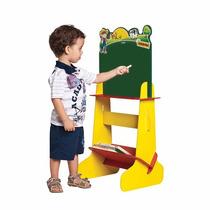 Lousa Infantil Com Prateleiras Brinquedo Didático Fazendinha