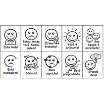 Carimbo Pedagógico Psico Avaliação Expressão Facial 10 Unid.