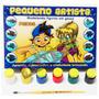 Molde Figura Gesso Brinquedo + Guache + Pincel - Peixe