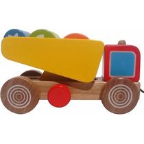 Caçamba Basculante Com Toras Nina Brinquedos Educativos