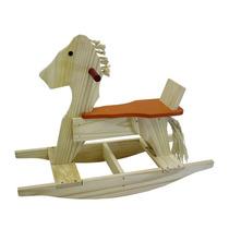 Cavalinho De Balanço Em Madeira Nina Brinquedos Educativos