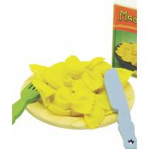 Brinquedo Madeira- Linha Comidinha - Kit Macarronada