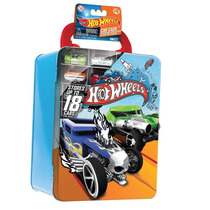Hot Wheels Maleta Metálica Azul E Verde - Intek