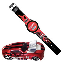 Mini Game Hot Wheels Max Turbo Com Relógio De Pulso Vermelho