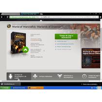Conta World Of Warcraft Todas As Versões + Um Char Nlv 90