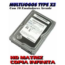 Hd Matriz 80gb Multijogos Taito Type X2 8 Emuladores Arcade