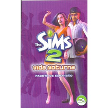 Manual Original Em Portugues Game Pc The Sims 2 Vida Noturna