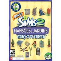 Game Pc The Sims 2 Mansoes E Jardins Coleção De Objetos
