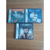Lote Nintendo Ds X Men/brain Age 2/club House Novos Lacrado