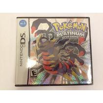 Pokemon Platinum Nintendo Ds Manual Novo Lacrado Americano