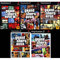 Gta 3 Grand Theft Auto Para Playstation 2 (kit 5 Jogos Ps2